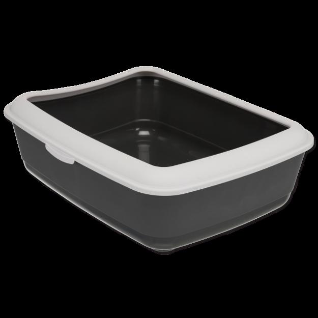 Toaleta TRIXIE Classic s okrajem šedá 47 cm