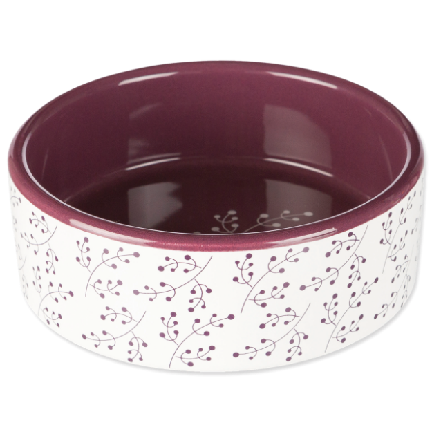 Miska TRIXIE keramická bílo-vínová 12 cm 0,3l